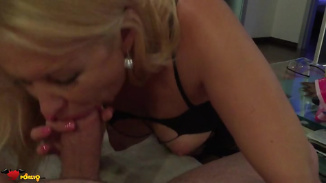 Lover blonde pampers hot cock sucking