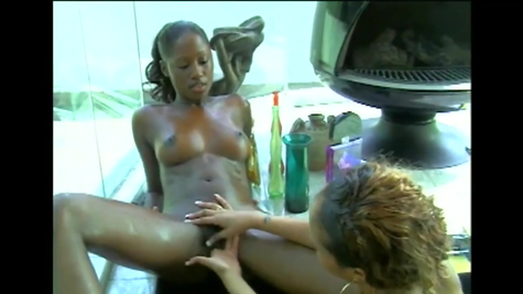 Shaving holes and lesbian pleasure, two mistresses enjoy