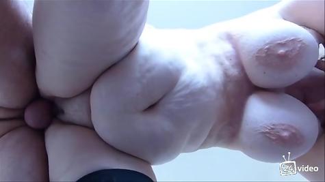 Doggy style pounds a fat woman