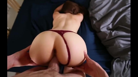 The ass of the chick is gorgeous, the male polishes the cutie in the pussy