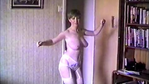 Retro Striptease - Busty Milf Shows Herself