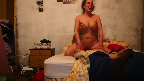 From hot sex, the busty woman screams deliciously and strongly