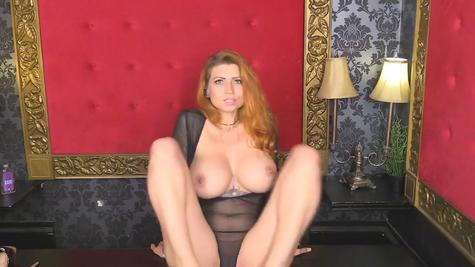 Gorgeous big boobs of gorgeous redhead