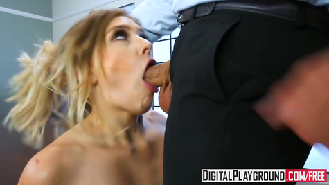 The secretary pampers the boss's cock with a deep mouth and a delicious pussy
